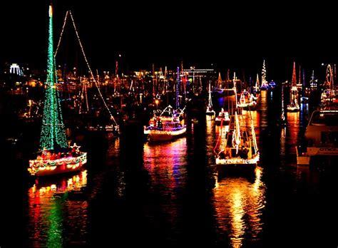 lights boat parade 30th annual lighted boat parade santa harbor