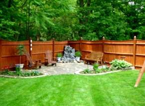 Landscaping Ideas For Backyard On A Budget Outdoor Concrete Deck With Pit For Inexpensive Small Diy Landscaping Ideas On A