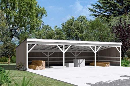 pole building open shed project plan  open shed