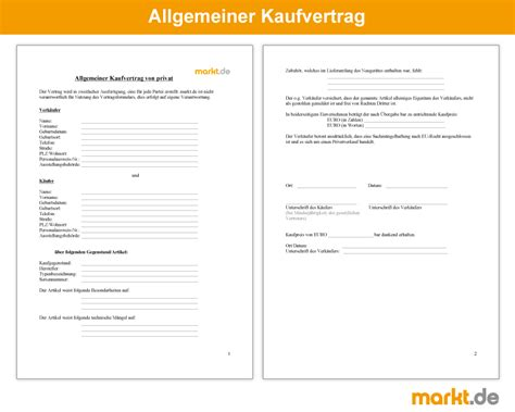 Pkw Versicherung Rechner Sterreich by Allgemeiner Kaufvertrag Privat Markt De