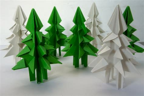 christmas tree paper folding ideas from the forest folding trees