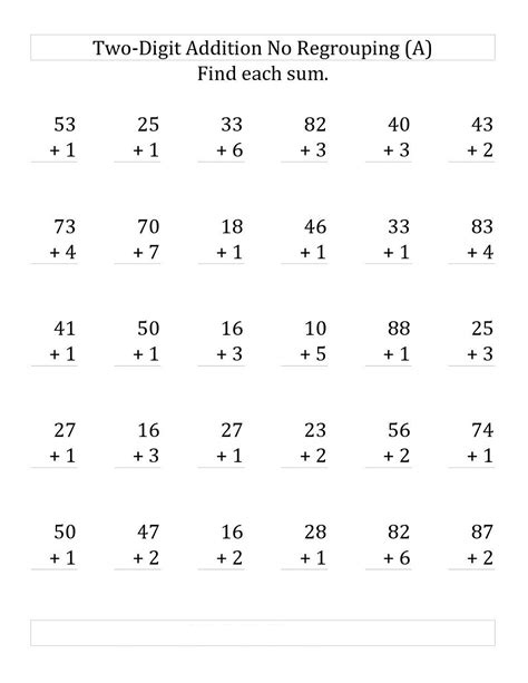 Digit Math Worksheets by Free Two Digits Math Worksheets Activity Shelter