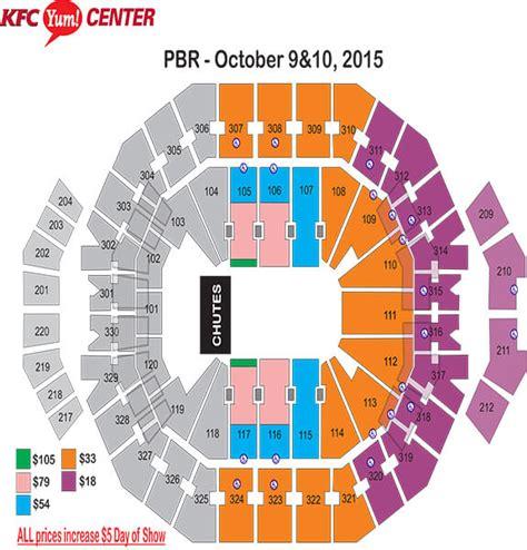 matthew arena seating pbr pbr bluedef velocity tour world finals kfc yum center