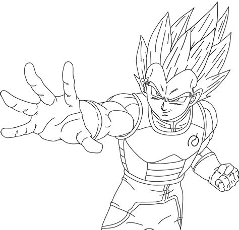 ssgss goku coloring pages vegeta fukkatsu no f ssjgod ss lineart by