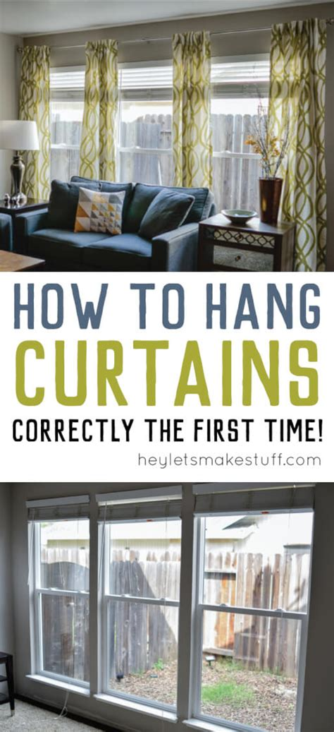 hang stuff without putting holes wall how to hang curtains a tutorial hey let s make