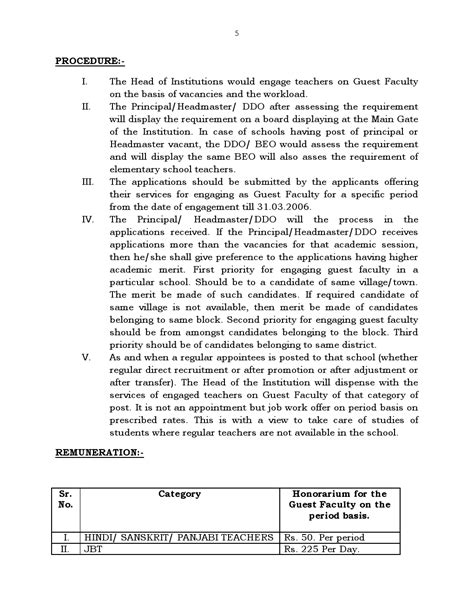 appointment letter format for guest faculty edumaters change in condition for appointment of guest