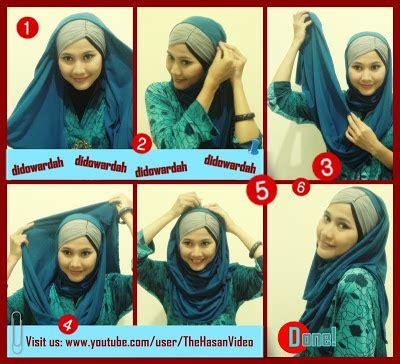 tutorial jilbab keren tutorial jilbab pashmina classic look ala didowardah