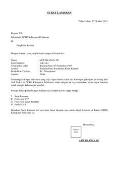 contoh surat lamaran kerja sebagai quality control surat lamaran kerja yang singkat ben jobs contoh
