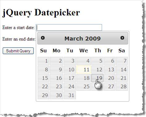tutorial jquery datepicker slide 34 167 jquery datepicker widget 167 csci e 12 march 24