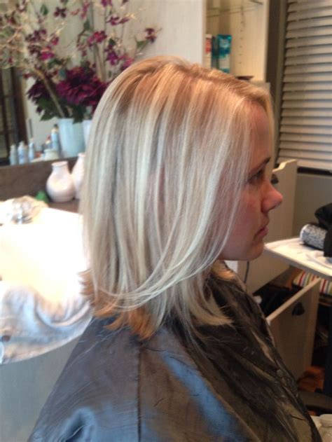 medium length hairstyles with lowlights salonbijou lkn wella wellalife highlights lowlights blonde