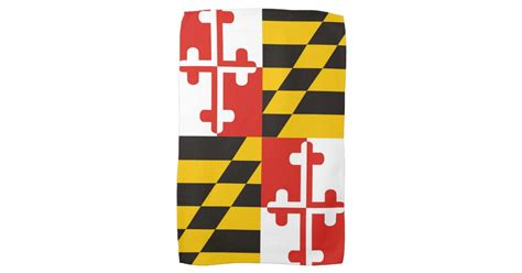 Kitchen Designers In Maryland maryland usa state flag towel zazzle