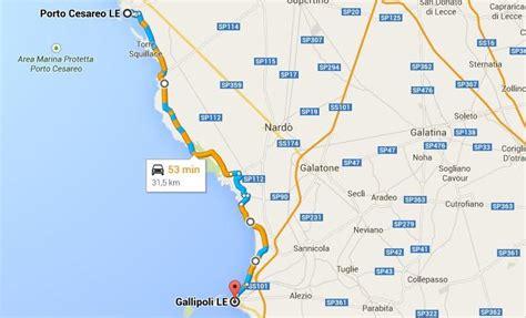 porto cesareo gallipoli itinerario da gallipoli a porto cesareo coste salento