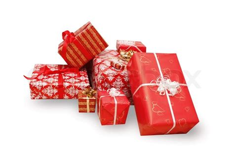 a lot of christmas presents stock photo colourbox