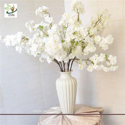 artificial cherry blossom branch uvg 1m white artificial cherry blossom branches wholesale