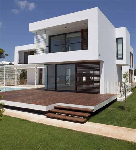 architecture house design unique shape of two story modern minimalist house design