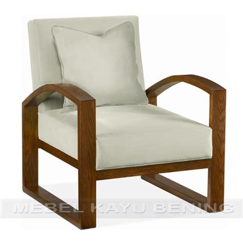 Kursi Tamu Single sofa kursi tamu jati model minimalis kbst 005