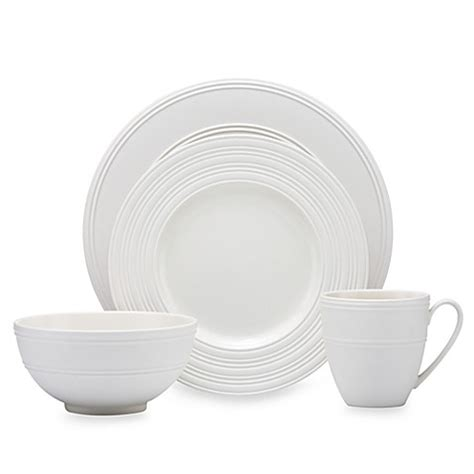kate spade dinnerware kate spade new york fair harbor dinnerware collection in white truffle bed bath beyond