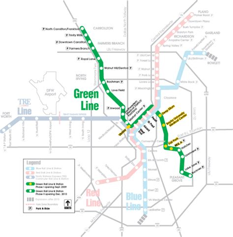 green line map phase of new green line expands service to south dallas 171 the transport politic