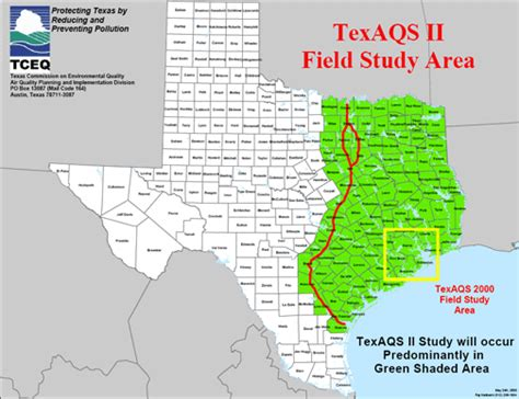 texas air quality map texaqs ii field study tceq www tceq texas gov