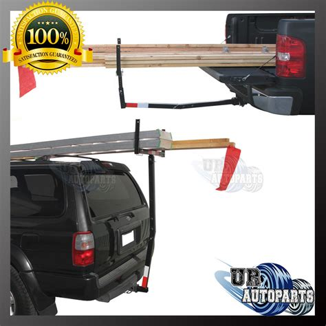 up extension rack truck hitch mounted load extender