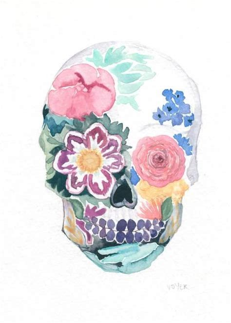 watercolor sugar skull tattoo the world s catalog of ideas