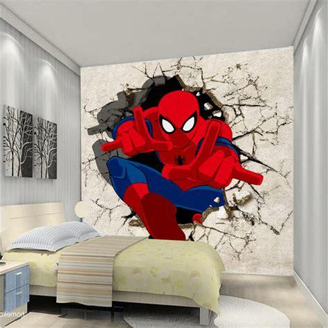 wallpaper dinding spiderman 7 desain kamar tidur anak laki laki tema spiderman