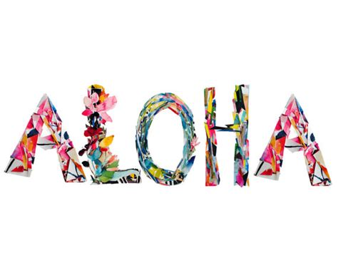 Letter Closing In Hawaiian Aloha Collage Letters Lettering Watercolor By Kianamosleystudio