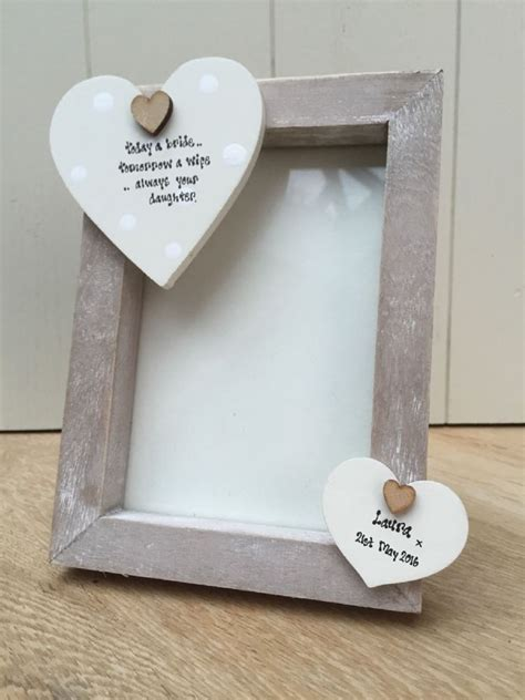 shabby personalised chic photo frame mother of the bride