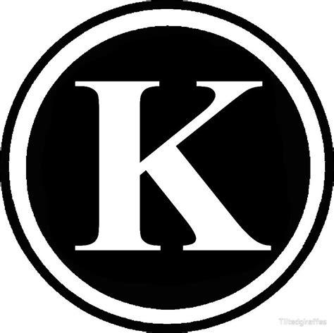 Circle K Gift Card Codes - quot circle monogram k quot by tiltedgiraffes redbubble