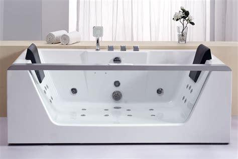 Bathroom Jet Tubs Eago Am196ho Rectangular Whirlpool Bath Tub Free Standing