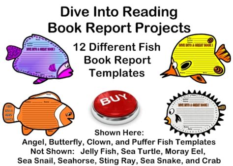 into the book report dive into reading book reports fish templates grading