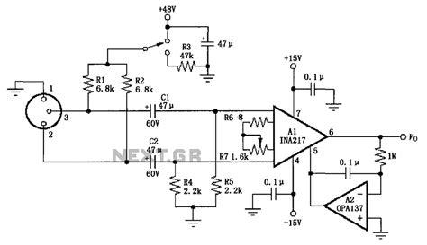 microphone prelifier circuit diagram mic pre circuit diagram readingrat net