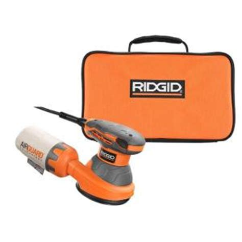 ridgid 5 in random orbit sander with airguard technology