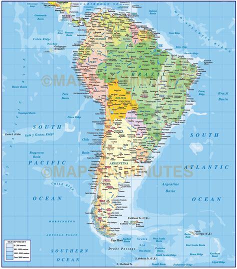 latitude map america latitude and longitude map of south america topographic map