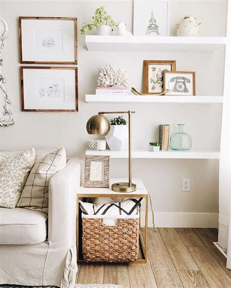 decorating living room shelves 25 best ideas about white wall shelves on pinterest