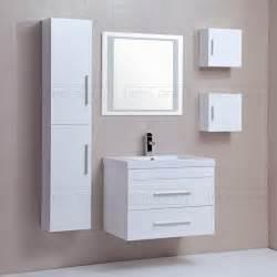 mobilier salle de bain pas cher laqu 233 blanc avec colonnes