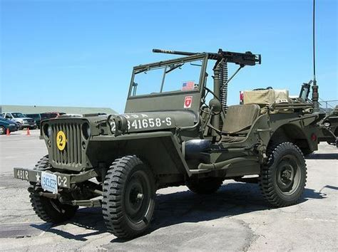 jeep gun willys mb jeep 1942 with 50 caliber machine gun