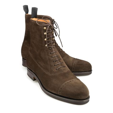 Handcrafted Boots - handmade brogue boots suede leather boots brown