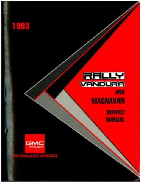 used 1993 gmc rally vandura and magnavan service manual