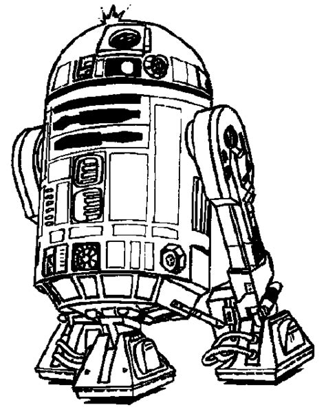 r2d2 coloring page free star wars clip art black and white clipart panda free
