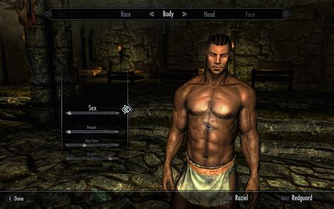 skyrim nexus 9 feb 2012 change male and malebeast skeleton 26 good looking characters part iv male redguard raziel