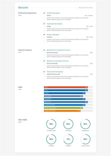 create interactive resume resume ideas