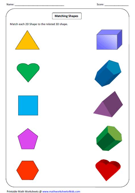 2d And 3d Shapes Worksheet by Solid 3d Shapes Worksheets