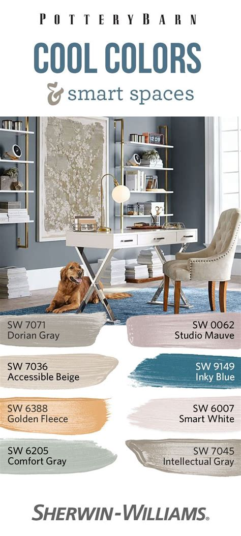 color scheme for inky blue sw 9149 43 best images about pottery barn paint collection on