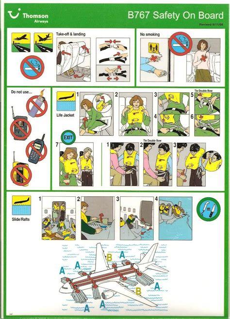 reddingsvest instructie veiligheidsinstructies aan boord van vliegtuigen v01