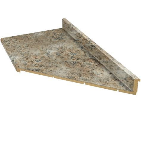 Lowes Kitchen Countertops Laminate Shop Vti Laminate Countertops 10 Ft Madura Gold Quarry Miter Cut Laminate Kitchen