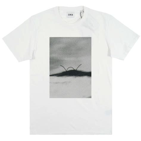 Fuji 2 T Shirt edwin abstract fuji t shirt white mens clothing from