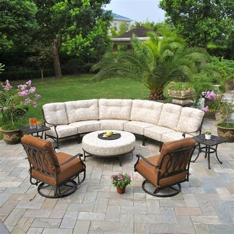 outdoor sectional patio furniture mayfair estate sectional by hanamint family leisure
