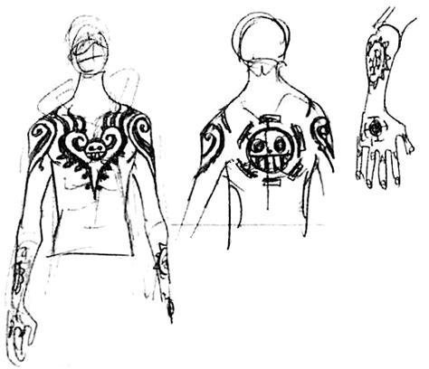 trafalgar law tattoos sbs71 3 tattoos
