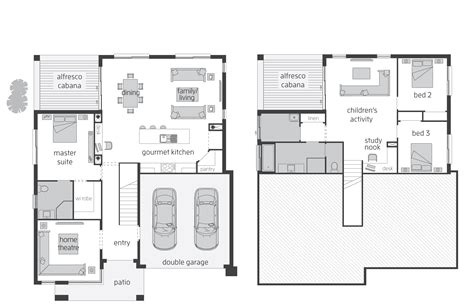 5 level split floor plans horizon act floorplans mcdonald jones homes